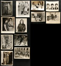 2y534 LOT OF 12 8X10 CRIME SCENE NEWS PHOTOS 1930s-1950s images of real life events!