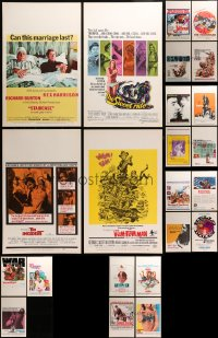 2y270 LOT OF 23 WINDOW CARDS 1960s-1970s great images from a variety of different movies!