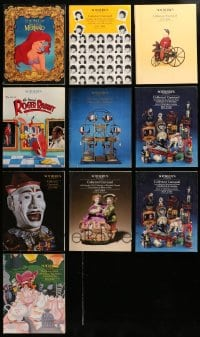 2y248 LOT OF 10 SOTHEBY'S AUCTION CATALOGS 1980s-1990s cool movie memorabilia & much more!