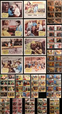2y094 LOT OF 103 1950S LOBBY CARDS 1950s mostly complete sets from a variety of different movies!