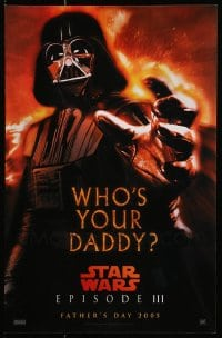 2y693 LOT OF 10 REVENGE OF THE SITH UNFOLDED 11X17 MINI POSTERS 2005 Darth Vader who's your daddy!