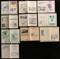2y368 LOT OF 10 LOCAL THEATER HERALDS 1920s-1930s from a variety of different movies!