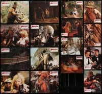 2y028 LOT OF 16 8X10 INDIANA JONES & THE TEMPLE OF DOOM SWISS LOBBY CARDS 1984 Harrison Ford!