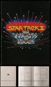 2y190 LOT OF 10 STAR TREK II SCREENING PROGRAMS 1982 full credits for The Wrath of Khan!