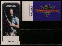 2y006 LOT OF 20 OUTLAND AND DRAGONSLAYER SNEAK PREVIEW TICKETS 1981 with image & credits!