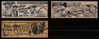 2y012 LOT OF 3 WHIP WILSON 4X11 TITLE STRIPS 1940s-1950s Haunted Trails, Silver Raiders & more!