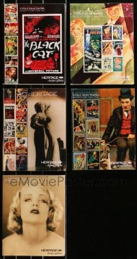 2y244 LOT OF 5 HERITAGE AUCTION CATALOGS 2008-2010 vintage movie posters & entertainment photos!
