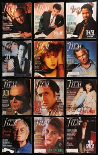 2y235 LOT OF 12 AMERICAN FILM MAGAZINES 1989-1990 great movie images & articles!