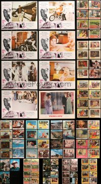 2y080 LOT OF 137 LOBBY CARDS 1950s-1970s mostly complete sets from a variety of different movies!