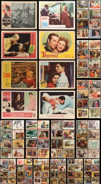 2y083 LOT OF 123 LOBBY CARDS 1950s-1960s great scenes from a variety of different movies!