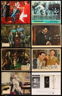 2y021 LOT OF 8 ENGLISH LOBBY CARDS 1960s-1980s great scenes from a variety of different movies!