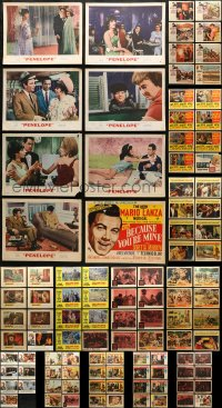 2y089 LOT OF 111 LOBBY CARDS 1950s-1960s mostly complete sets from a variety of movies!