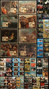 2y075 LOT OF 166 LOBBY CARDS 1960s-1990s mostly complete sets from a variety of movies!