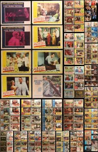 2y074 LOT OF 183 LOBBY CARDS 1950s-1990s incomplete sets from a variety of different movies!
