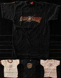 2y208 LOT OF 4 MOVIE PROMO T-SHIRTS 1980s Flash Gordon, Urban Cowboy, Death Trap, sizes M to XL!