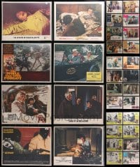 2y136 LOT OF 48 1970S BAGGED AND PRICED LOBBY CARDS 1970s incomplete sets from a variety of movies!