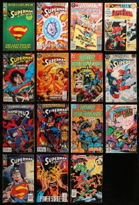 2y219 LOT OF 15 SUPERMAN COMIC BOOKS 1980s-1990s Action Comics, Superboy, Phantom Zone & more!
