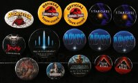 2y425 LOT OF 15 HORROR/SCI-FI/FANTASY PIN-BACK BUTTONS 1980s-1990s a variety of movie images!