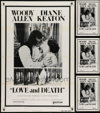 2y800 LOT OF 5 FORMERLY TRI-FOLDED 27X41 LOVE & DEATH STYLE B ONE-SHEETS 1975 Woody Allen, Keaton