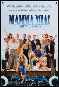 2y728 LOT OF 43 UNFOLDED DOUBLE-SIDED 27X40 MAMMA MIA! HERE WE GO AGAIN TEASER ONE-SHEETS 2018
