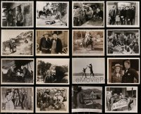 2y528 LOT OF 16 B-WESTERN 8X10 STILLS 1940s-1960s great scenes from a variety of cowboy movies!