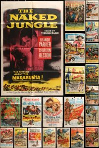 2y066 LOT OF 22 FOLDED ONE-SHEETS 1950s-1960s great images from a variety of different movies!
