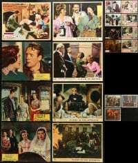 2y020 LOT OF 19 ENGLISH LOBBY CARDS 1960s-1970s incomplete sets from a variety of movies!