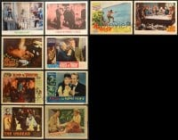 2y151 LOT OF 10 LOBBY CARDS 1940s-1960s great scenes from mostly horror movies!