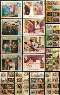 2y087 LOT OF 113 LOBBY CARDS 1950s-1960s incomplete sets from a variety of different movies!