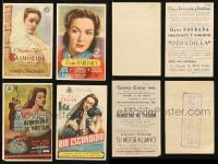 2y339 LOT OF 4 MARIA FELIX SPANISH HERALDS 1940s great images of the beautiful Mexican actress!