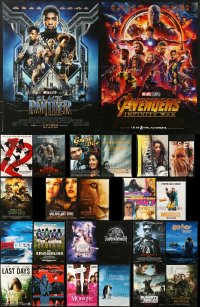 2y601 LOT OF 25 FORMERLY FOLDED 15x21 FRENCH POSTERS 1990s-2010s great images from a variety of movies!