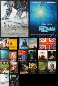 2y603 LOT OF 23 FORMERLY FOLDED 15x21 FRENCH POSTERS 2000s-2010s great images from a variety of movies!