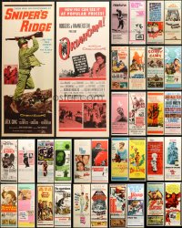 2y640 LOT OF 42 UNFOLDED INSERTS 1950s-1970s great images from a variety of different movies!