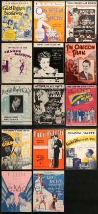 2y184 LOT OF 14 MOVIE SHEET MUSIC 1930s great songs from his movies!
