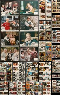2y073 LOT OF 186 LOBBY CARDS 1980s mostly complete sets from a variety of movies!