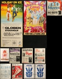 2y569 LOT OF 11 MOSTLY FORMERLY FOLDED NON-U.S. VAUDEVILLE AND CIRCUS POSTERS 1930s-1970s cool!