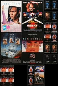 2y710 LOT OF 24 UNFOLDED MINI AND SPECIAL POSTERS 1980s-1990s a variety of great movie images!