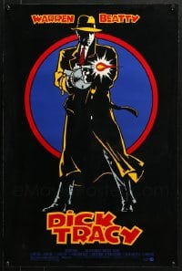 2y666 LOT OF 5 UNFOLDED 18X27 DICK TRACY SPECIAL POSTERS 1990 great art of Warren Beatty w/ gun!