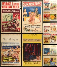 2y273 LOT OF 16 FORMERLY FOLDED WINDOW CARDS 1950s great images from a variety of different movies!