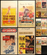 2y274 LOT OF 15 FORMERLY FOLDED WINDOW CARDS 1950s great images from a variety of different movies!