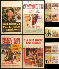 2y275 LOT OF 14 FORMERLY FOLDED WINDOW CARDS 1950s great images from a variety of different movies!