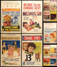 2y276 LOT OF 13 FORMERLY FOLDED WINDOW CARDS 1950s great images from a variety of different movies!