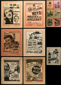 2y003 LOT OF 13 11X14 VICTOR CORNELIUS LOCAL THEATER WINDOW CARDS 1940s from a variety of movies!