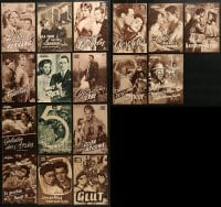 2y022 LOT OF 17 GERMAN PROGRAMS 1950s great images from a variety of different movies!