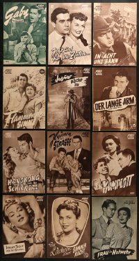 2y024 LOT OF 19 GERMAN PROGRAMS 1950s great images from a variety of different movies!