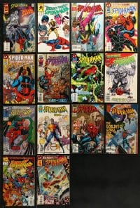 2y221 LOT OF 14 SPIDER-MAN COMIC BOOKS 1990s Silver Surfer, Lethal Foes, 2099 & more!