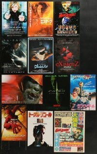 2y199 LOT OF 12 SCI-FI MOSTLY JAPANESE CHIRASHI POSTERS 1980s-2010s a variety of cool images!