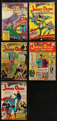 2y224 LOT OF 5 JIMMY OLSEN COMIC BOOKS 1960s DC Comics, Superman's Pal, Batman & more!