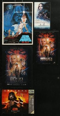 2y357 LOT OF 5 STAR WARS FLYERS 1970s-2010s A New Hope, Phantom Menace & Rogue One!
