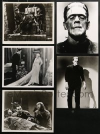 2y381 LOT OF 5 FRANKENSTEIN 8X10 REPRO PHOTOS 1980s monster Boris Karloff shown in each scene!